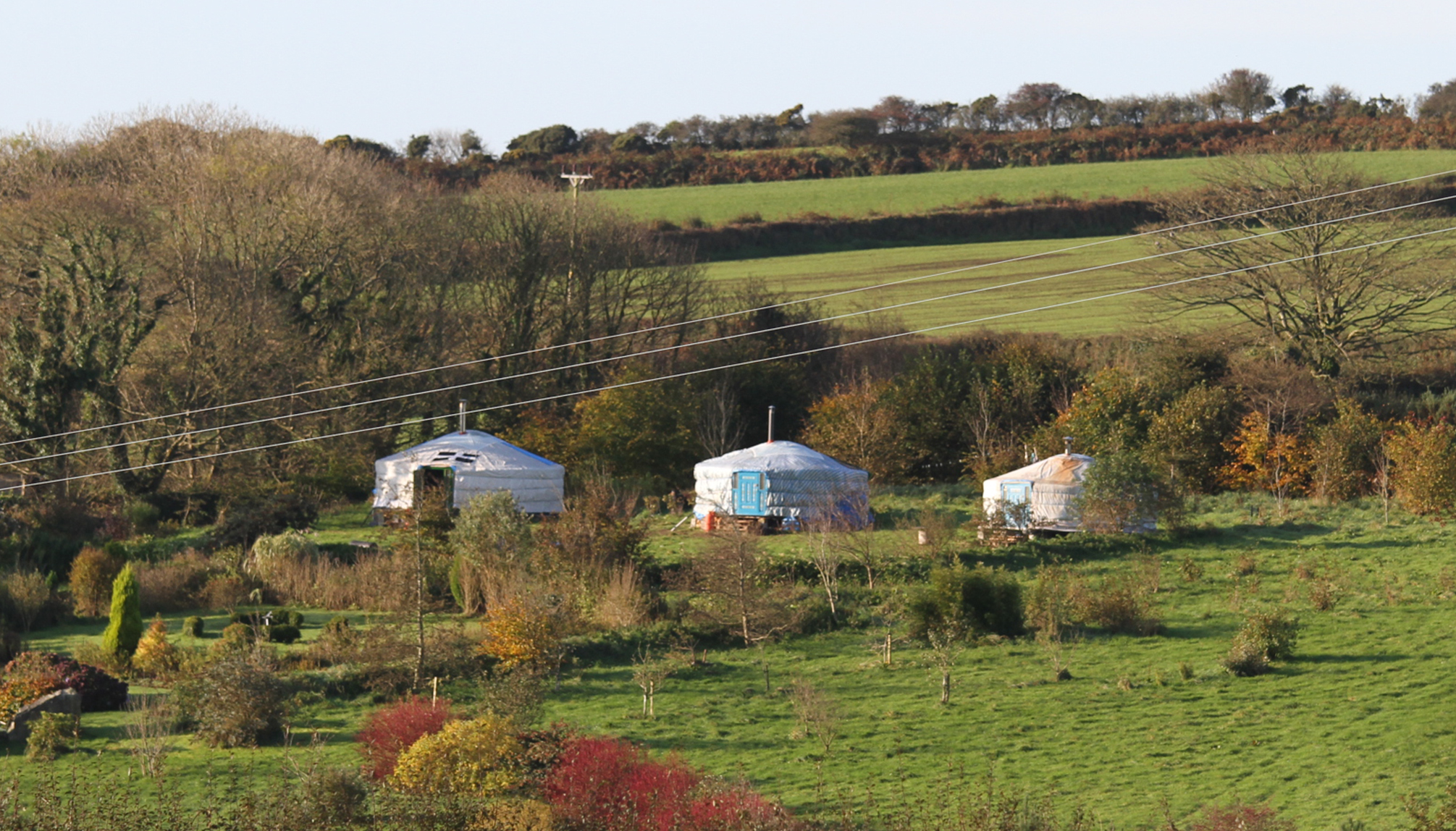 Yurts in a row