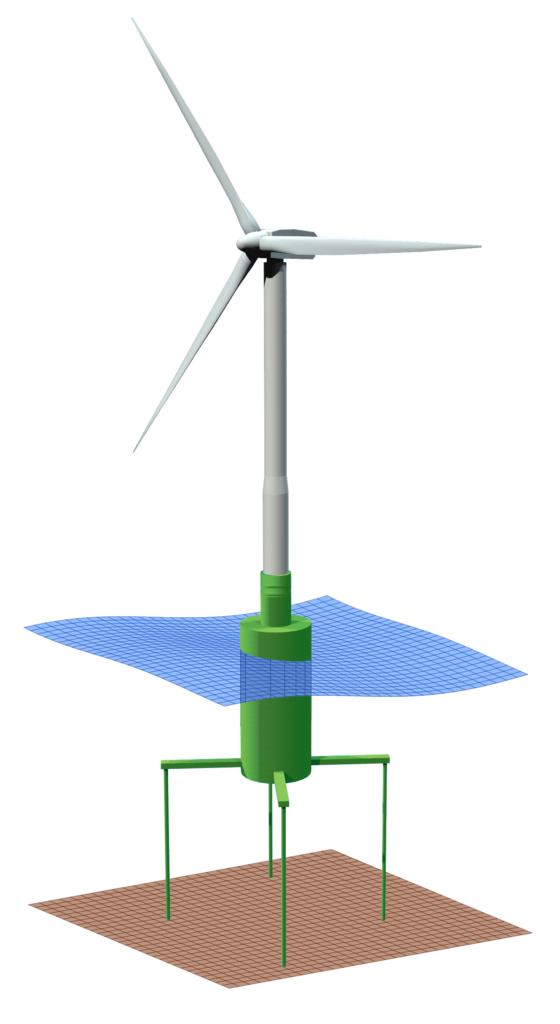 TLP Floating Turbine